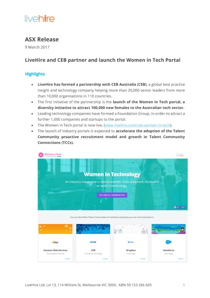 CEB partnership WIT