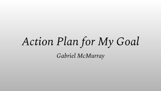 Action Plan for My Goal