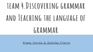 discovering grammar and TL