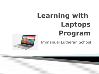 Learning with Laptops Meeting