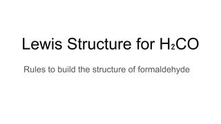 Lewis Structure for H₂CO