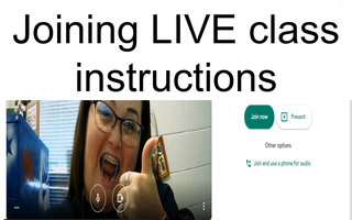 Joining LIVE class
