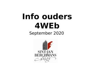Info voor ouders 4WEb