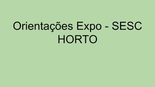 Orientações EXPO