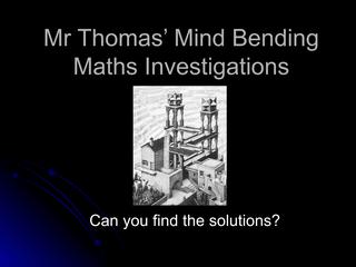 Mind Bending Lesson 5