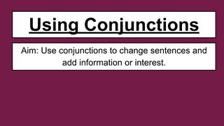 Conjunctions Bubble Work
