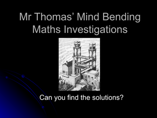 Mind Bending Lesson 4