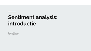 Sentiment analysis review