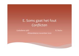 Soms gaat het fout: conflicten