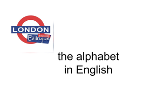 the alphabet  in English