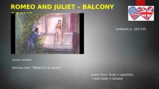 The balcony scene: analysis