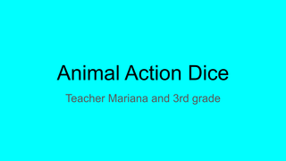 Animal Action Dice