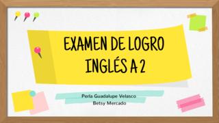 EXAMEN DE LOGRO