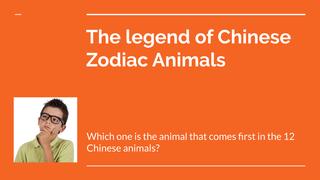 The legend of Zodiac Animals