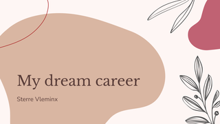 ENG: dream career