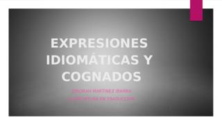 EXPRESIONES IDIOMÁTICAS Y COGN