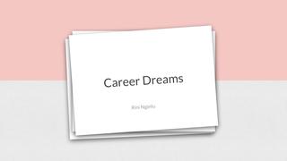 Career dreams+scientific artic