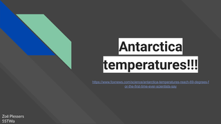 Antarctica temperatures!!!