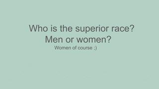men vs. woman
