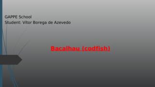 Food Dish: Codfish