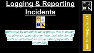 Anti Bullying Logging