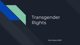 Engels: Transgender rights