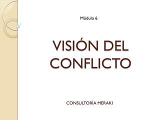 Visión del conflicto