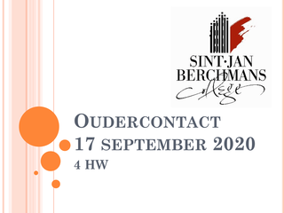 Oudercontact 4HW 17/09/2020