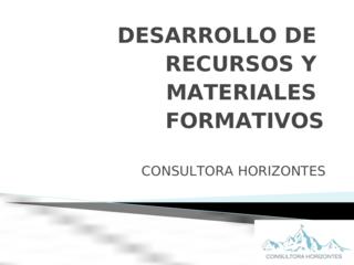 DESARROLLO DE RECURSOS Y MATER
