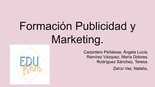 formación de Publicidad y Mark