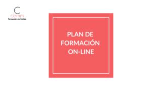 Plan de formación on-line