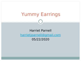 Yummy Earrings Project