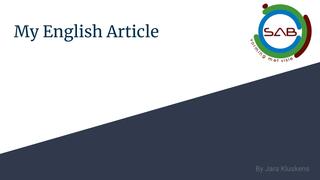 My English Article