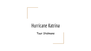 Engels hurricane Katrina