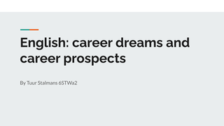 English: career dreams and car
