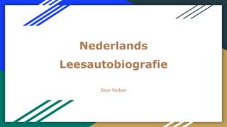 Nederlands  Leesautobiografie