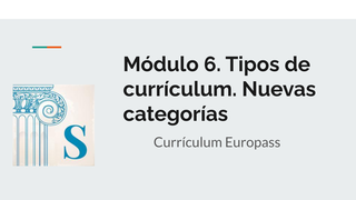 Módulo 6. Currículum europass