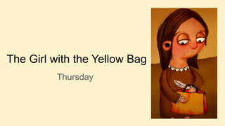 The Girl with the Yellow Bag T