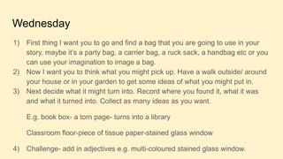Wednesday writing-bag