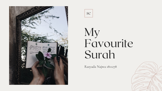 My favourite Surah