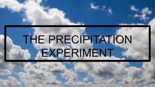 THE PRECIPITATION EXPERIMENT