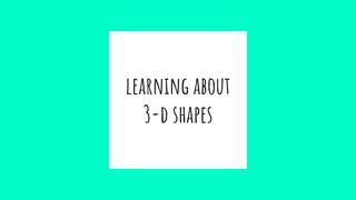 Cópia de 3-D SHAPES