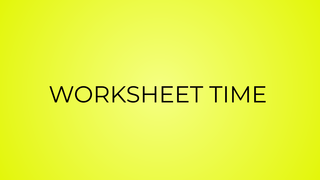 WORKSHEET TIME