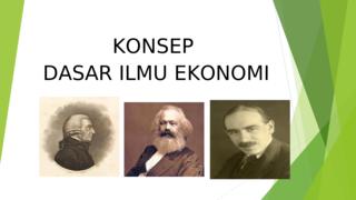 KONSEP ILMU EKONOMI