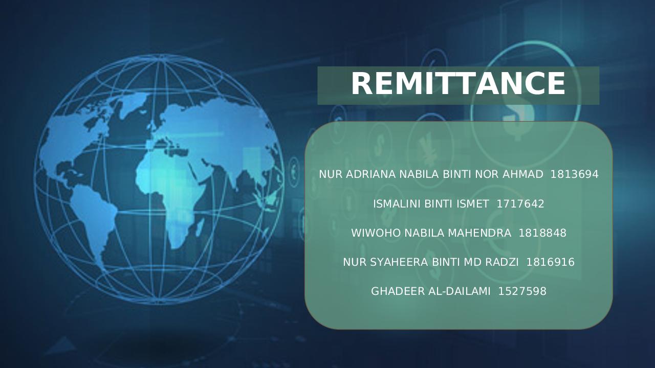 Remittance in Blockchain