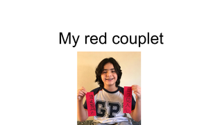 my red couplet