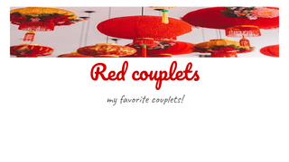 Red couplets