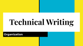 Technical Writing:  Intro