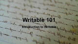 Writable 101 Slides