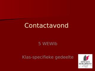 Klas-specifiek 5WEWIb '20-'21